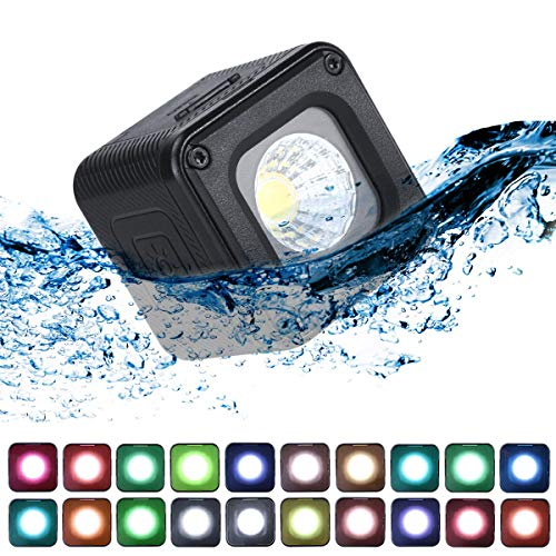 (ULANZI L1 Pro Versatile Mini LED Light Waterproof LED Lighting with 20 Color Gels for Smartphone Camera Drone Photography,Video, Underwater,Compatible w DJI OSMO Action Gopro 7 6 5 iPhone DSLR Cameras )