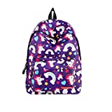 Backpack for Girls,Fashion Unicorn College Bags Student School Backpacks,Lightweight School Bookbag Floral Daypack