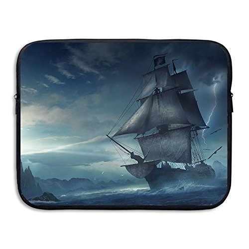 Lightning Sailboat - Water-resistant Laptop Bags Lightning Sailboat Ultrabook Briefcase Sleeve Case Bags 15 Inch