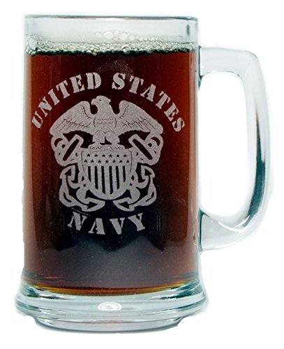 U.S. Navy 15oz. Beer Mug with - Navy Glasses Us
