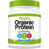 Orgain Organic Plant Based Protein Powder, Vanilla Bean, 1.02 Pound, 1 Count, Vegan, Non-GMO, Gluten Free, Packaging May Vary