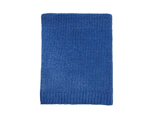 Little Love by NoJo Separates Collection Blue Knit Chenille Blanket, Navy