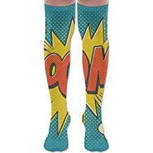Comic Boom Cotton Casual Knee High Socks