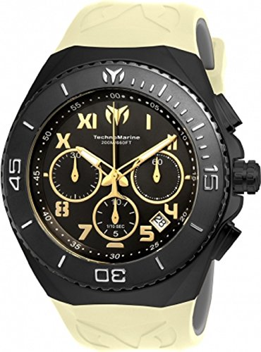 Technomarine TM-215070 Men's Ocean Manta Collection 48mm Black Dial Watch