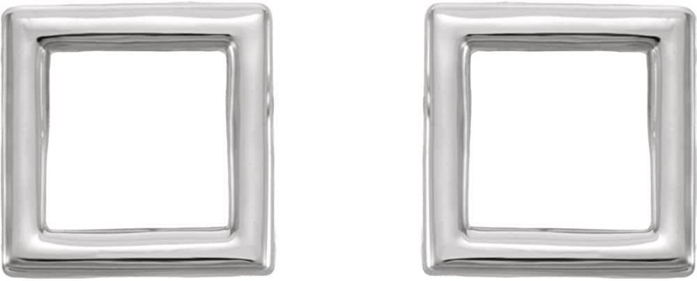 Jewels By Lux 925 Sterling Silver Square Earrings