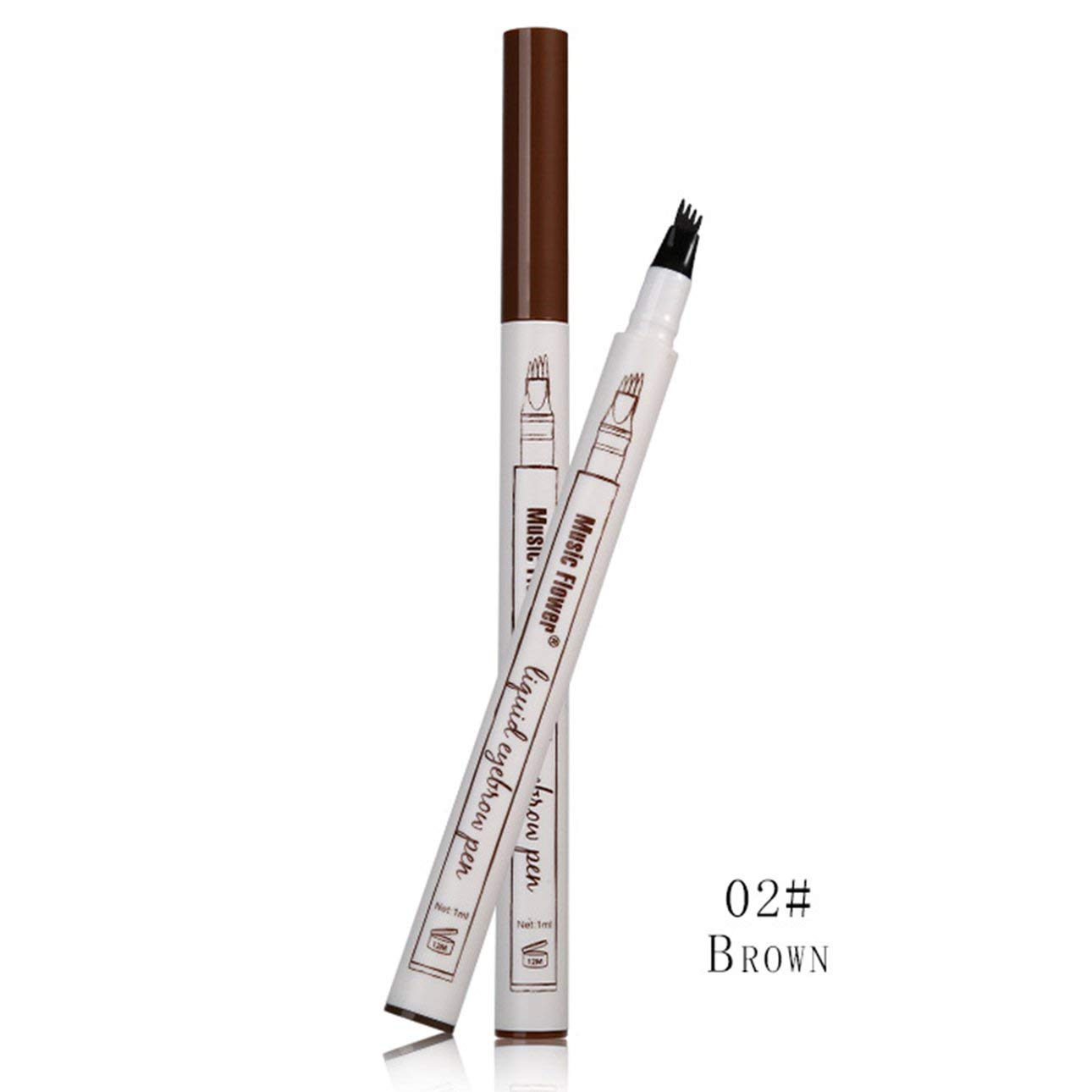 Liobaba Liquid Eyebrow Pen Waterproof Anti-sweat Tattooing Eye Brow Pencil Smudge-proof Long Lasting Eye Makeup