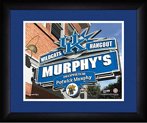 Personalized Hangout Sign - Framed Poster Print (Kentucky Art Glass Frame)