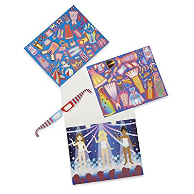 Melissa & Doug Easy-to-See 3-D Reusable Sticker Pad - Fashions: Toy: Toys & Games