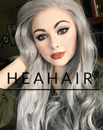 [Heahair Silver Wig with Dark Roots Wigs for Women Synthetic Hair Cosplay Wig Silver Synthetic Grey] (Homemade Hippie Costumes Ideas For Women)