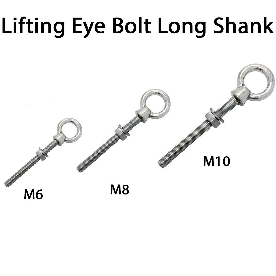 12mm x 120mm  STAINLESS STEEL 316  LONG SHANK EYEBOLT