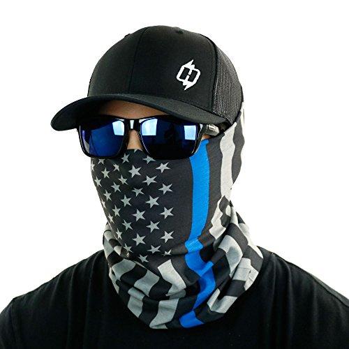 Thin Blue Line American Flag Bandana