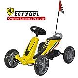 Galoper Scuderia Ferrari Kids Pedal Go Kart - Jouets à enfourcher à pédale pour voiture pour pédale de garçon et de fille (Jaune)