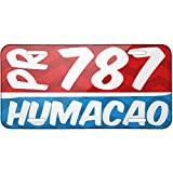 Metal License Plate 787 Humacao, PR red/blue - Neonblond