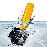 Floating Handle Grip for GoPro Hero4 Hero3+ Hero3 Hero2 & Hero Cameras - Includes: Floating Pole + Wrist Strap + MagicFiber Microfiber Cleaning Cloth