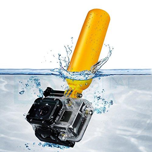 UPC 702168587361, Floating Handle Grip for GoPro Hero4 Hero3+ Hero3 Hero2 & Hero Cameras - Includes: Floating Pole + Wrist Strap + MagicFiber Microfiber Cleaning Cloth