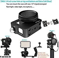 Gurmoir Case Aluminum Alloy Frame Housing for Gopro Hero 7 Black/Hero(2018)  Action Camera, Protective Metal Side Open Shell with 52mm UV Filter and