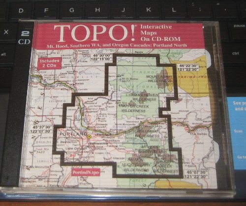 (TOPO! Interactive Maps on CD-ROM {Mt. Hood, Southern WA, and Oregon Cascades: Portland North})