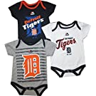 "Detriot Tigers 3pc ""Triple Play"" Creeper Bodsuit Set Infant Baby (6-9 Months)"