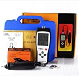VETUS INSTRUMENTS AS63B Portable Digital Vibrometer Vibration Analyzer Tester Meter with Handheld Vibration Meter and Data Logger Vibrometer Meter Vibrating Gauge 10HZ 1KHZ 0.1 199.9m/s , White