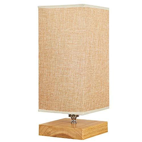 TXDZ Lámpara de mesa Lámpara de mesa de madera Mesita de ...