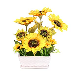 YSZL Artificial Sunflower with Pot 90