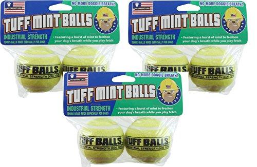 Dog Mint Balls (PetSport Tuff Mint Balls, 6 Balls (3 Packs Containing 2 Balls Each))