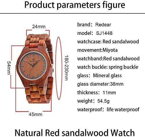 Quartz Watch Montres en Bois Massif Naturel Hommes Fait à la Main élégant