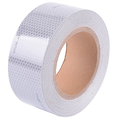 """Brightplus SOLAS Grade Reflective Conspicuity Tape Safety Warning Tape Silvery White (2"""" x 75"""