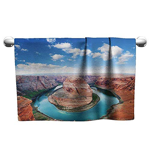 DUCKIL Modern Hand Towels Room Decorations Collection Horse Shoe Bend North Rim Grand Canyon Page Arizona USA Famous Tourist Attractions Sauna Sheet 35 x 12 inch Sandy Brown