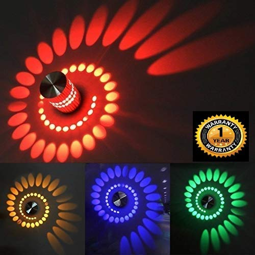 Spiral Led Multi-Colour Decorative Wall lamp with Remote