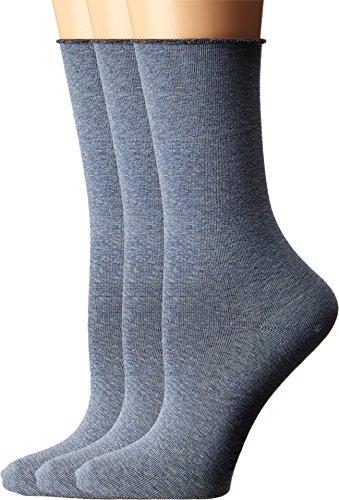 HUE Women's Jean Socks 3-Pack Denim Heather One Size