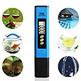 Justdolife TDS Meter Drinking Water Tester Digital LCD Display Temperature Test Pen for Water Quality
