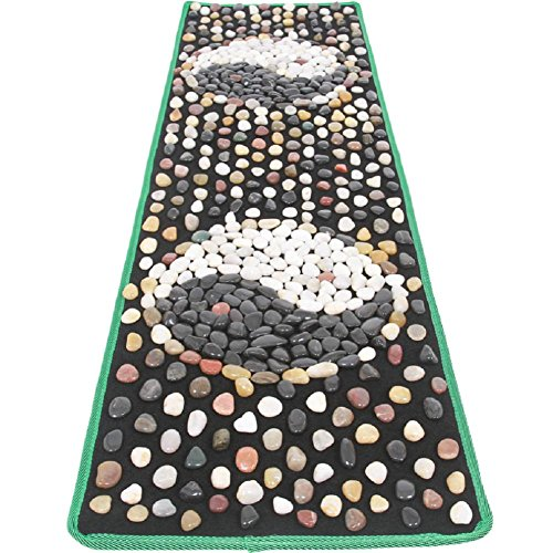 WE&ZHE Natural Stone Pebble Foot Massage Pad Foot Massage Foot Pad Gravel Blanket Pressure Plate (40/150CM) by WE&ZHE