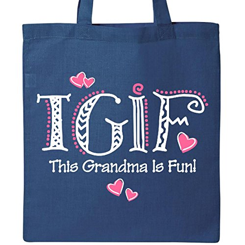 Inktastic TGIF Fun Grandma WHT Tote Bag Royal Blue