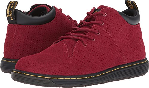 Unisex 5 Eye Padded Collar (Dr. Martens Kid's Collection Unisex Parker 5-Eye Lace-Up Monkey Bootie (Big Kid) Dark Red Hi Suede Water Perforated Boot)