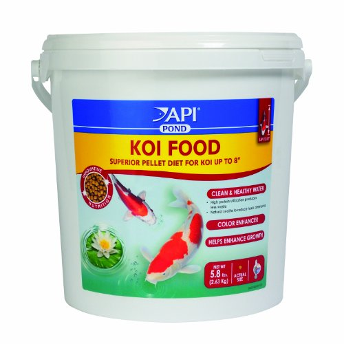 Api pond koi fish food 5 8 pound animals pet supplies pet for Koi fish food for sale