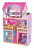 Best Dollhouses - MMP Living Wooden dollhouse with 16 furniture pieces Review