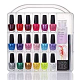 Makartt Portable Nail Polish Organizer Holder for 36 bottles- with Large Separate Compartment for Tools