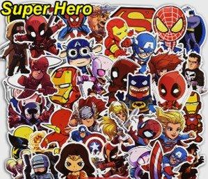 SUPERHEROS stickers Calcomanias 25 piezas variadas de exelente calidad