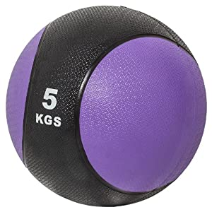 Gorilla Sports Medizinball 5 kg, Schwarz/Lila, 5, 10000339;14