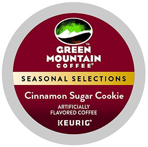 (Green Mount Coffee Cinnamon Sugar Cookie Keurig Single-Serve K-Cup Pods, Light Roast Coffee, 24 Count)