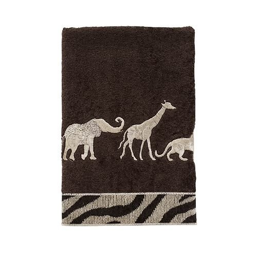 Avanti Animal Parade Hand Towel, Mocha