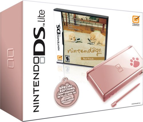 Nintendo DS Lite Metallic Rose with Nintendogs Best Friends (NDS Pink Bundle) ()