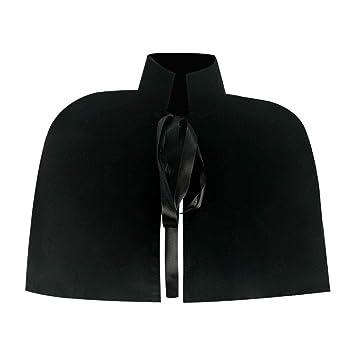 ZEQIYUE Fiesta de Halloween Negro Velvet Capa Chal Medieval ...