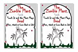 "ZOMBIE PLANT Seed Packets (2) - Fun Party Gift. Comes with Ten Fun Ideas To Do With Your ZOMBIE PLANT (It ""PLAYS DEAD"" when you Touch It!) Great Zombie Party Giveaway!"