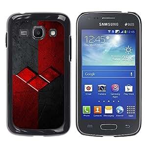 TopCaseStore / la caja del caucho duro de la cubierta de protección de la piel - Grey Gray Brand Logo - Samsung Galaxy Ace 3 GT-S7270 GT-S7275 GT-S7272