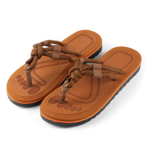 Aerusi Mesa Knot Flip Flop Sandals, tan, Size 9 Regular US -