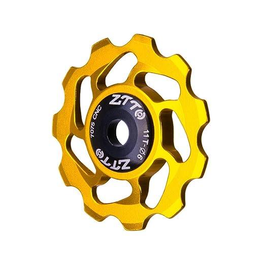 YGQersh ,Bicicleta Polea Jinete Rueda 11T MTB Carretera Bicicleta Traspaso Cojinete de cerámica - Plateado: Amazon.es: Deportes y aire libre