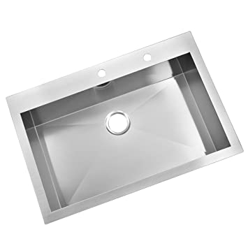 kingo home stainless steel top mount 32 inch 9 inch extra deep 18 gauge drop kingo home stainless steel top mount 32 inch 9 inch extra deep 18      rh   amazon com