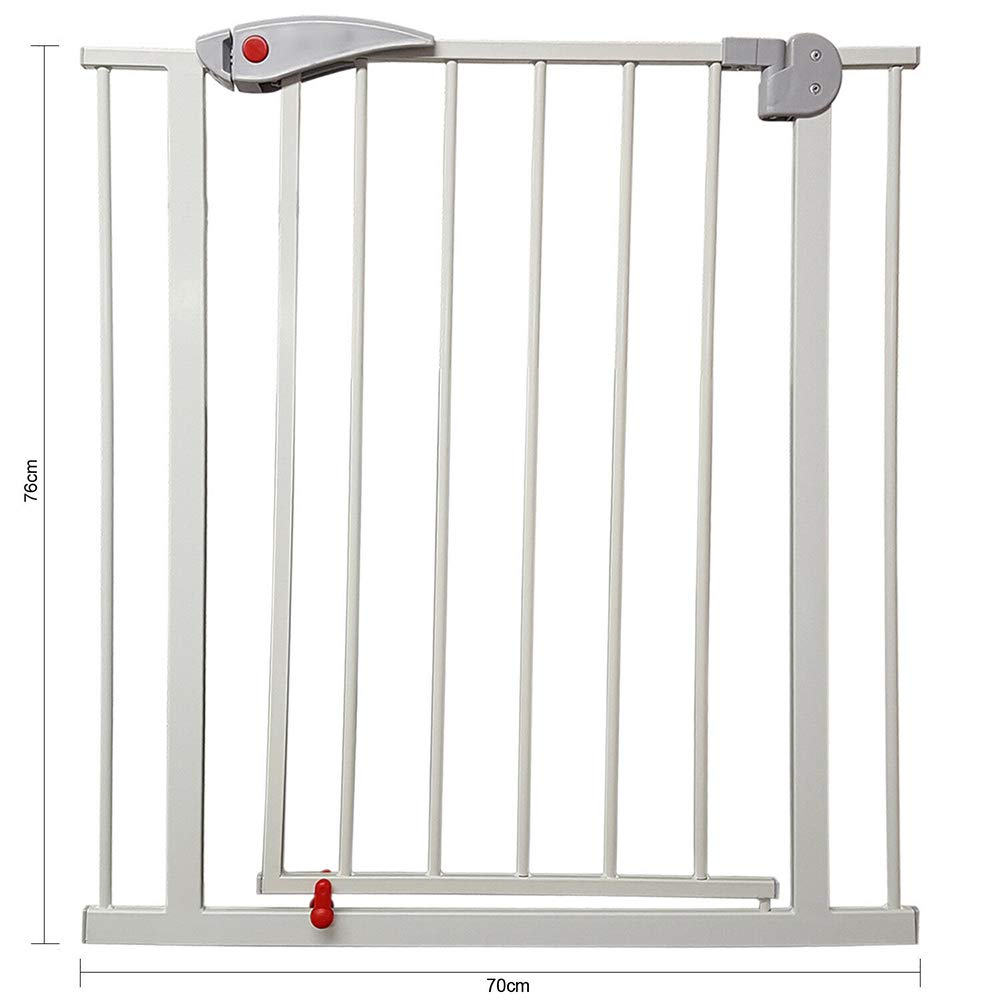 Festnight Pet Barrier Safety Gate Dog Fence Safe Guard Metal for House Indoor Stair Doorway